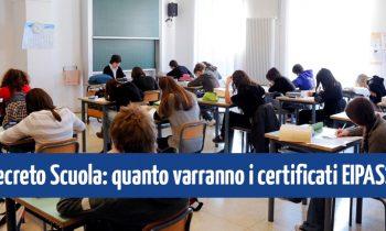 Decreto Scuola: quanto varranno i certificati EIPASS?